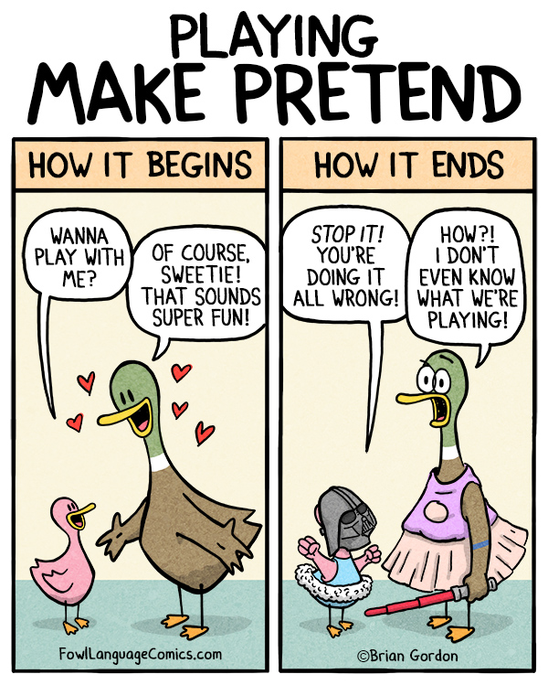 make pretend フリーダム英会話